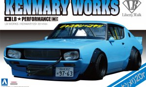 1:24 Scale Aoshima LB Works Skyline Kenmary 2 Door Model Kit #323