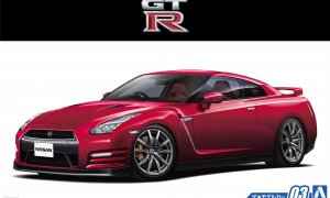1:24 Scale Aoshima Nissan GTR R35 Pure Edition 14 With Engine Model Kit #03p