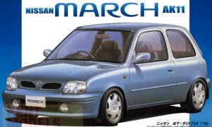 1:24 Scale Fujimi Nissan Micra March K11 Model Kit #612p