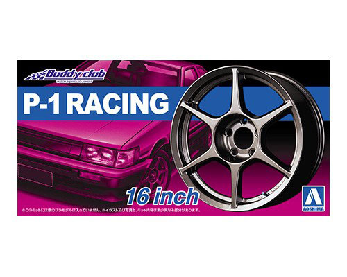 1:24 Scale Buddy Club P-1 Racing Wheels & Tyres Set #215