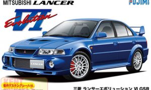 1:24 Scale Mitsubishi Lancer Evolution VI / 6 GSR Model Kit #639