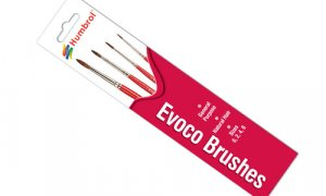 Humbrol Evoco Brush Pack For Use With All Paints #1093