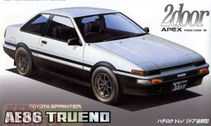 1:24 Scale Fujimi Toyota AE86 Trueno 2 Door Late Type '85 Model Kit #594