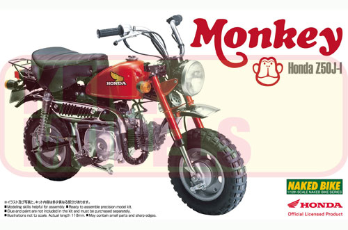 1:12 Scale Honda Monkey Bike Model Kit #370