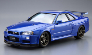 1:24 Scale Nissan Skyline R34 GT-R BNR34 V-Spec 2 Model Kit #08