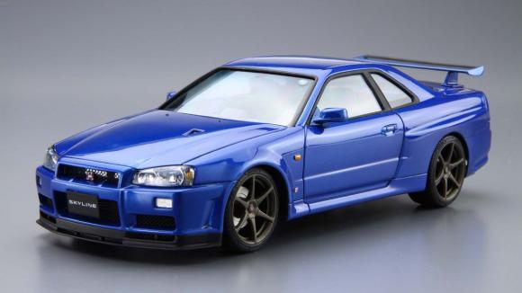 Skyline Gtr R34 For Sale >> 1:24 Scale Nissan Skyline R34 GT-R V-Spec 2 Model Kit - Kent Models