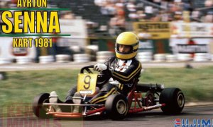 1:20 Scale Ayrton Senna Go Kart 1981 Model Kit #533