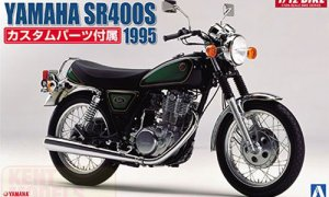 1:12 Scale Yamaha SR400S With Custom Parts Model Kit #361