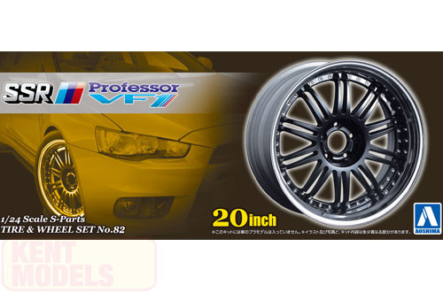 1:24 Scale SSR Professor VF1 Wheels & Tyres Set