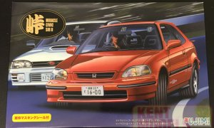 1:24 Scale Fujimi Honda Civic SiR EK Model Kit #763
