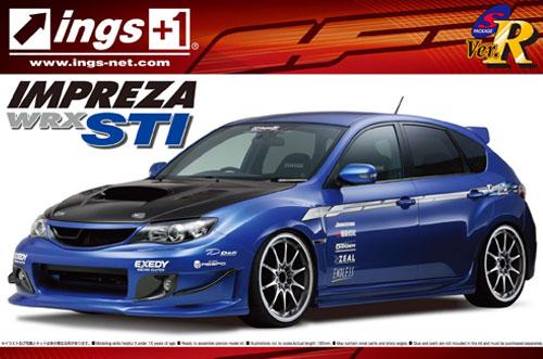 1:24 Scale Aoshima Subaru Impreza GRB WRX STI INGS Ver. Model Kit #159p