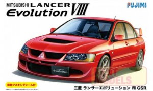 1:24 Scale Mitsubishi Lancer Evolution VIII GSR Model Kit #716
