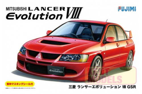 1:24 Scale Fujimi Mitsubishi Lancer Evolution VIII GSR Model Kit #716p