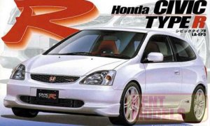 1:24 Scale Honda Civic Type R EP3 2001 Model Kit #631