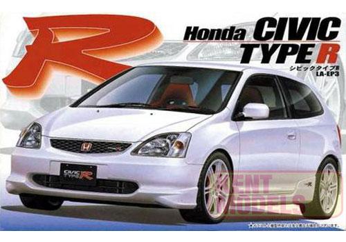 1:24 Scale Honda Civic EP3 Type R Model Kit #631
