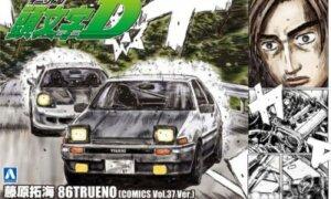 1:24 Scale Initial D Takumi Fujiwara Toyota AE86 Comics VOL.37 Model Kit #419