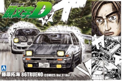1:24 Scale Aoshima Initial D Takumi Fujiwara Toyota AE86 Comics VOL.37 Model Kit #419p