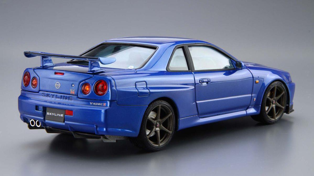 1 24 Scale Nissan Skyline R34 Gt R V Spec 2 Model Kit0