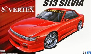 1:24 Scale Aoshima Nissan Silvia PS13 Vertex T&E Model Kit #145