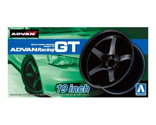 1:24 Scale Aoshima Advan Racing GT 19 Inch Wheels & Tyres Set #238
