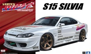 1:24 Scale Aoshima Nissan Silvia S15 Vertex 1999 Model Kit #132