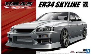 1:24 Scale Uras Nissan Skyline ER34 Model Kit #144