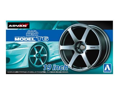 1:24 Scale Advan AVS Model T6 19 Inch Wheels & Tyres Set #249