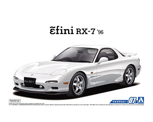 1:24 Scale Aoshima Mazda RX7 FD3S 1996 Model Kit #07p