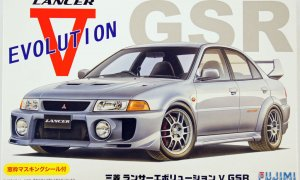 1:24 Scale Fujimi Mitsubishi Lancer Evolution 5 V GSR Model Kit #637p