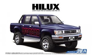 1:24 Scale Toyota Hilux Pick Up Double Cab LN103 4WD 1994 Model Kit #20p