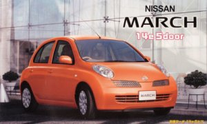 1:24 Scale Nissan Micra/March Plastic Model Kit #599p
