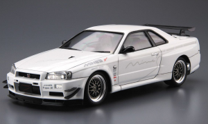 1:24 Scale Aoshima Mine's Nissan Skyline R34 GTR BNR34 Model Kit #158p