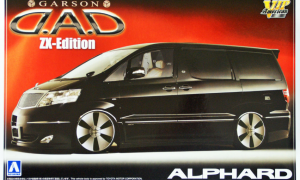 1/24 Scale Aoshima Toyota ALPHARD Garson D.A.D ZX Edition Model Kit #1072