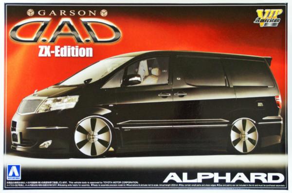 1/24 Scale Aoshima Toyota ALPHARD Garson D.A.D ZX Edition Model Kit #1072