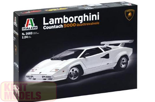 1 24 Scale Lamborghini Countach 5000 Model Kit Kent Models