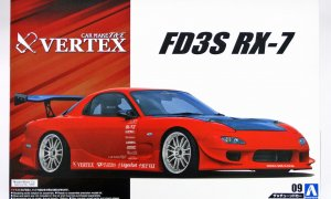 1:24 Scale Aoshima Mazda FD3S RX7 Vertex T&E 1999 Model Kit #133