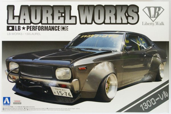 1:24 Scale Aoshima LB Works Nissan Laurel 130 Model Kit #322p