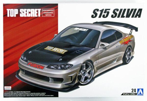 1/24 Scale Aoshima Nissan Silvia S15 Top Secret 1999 Model Kit #148p