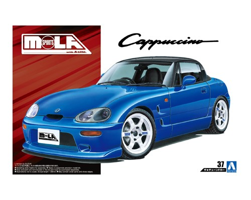 1:24 Scale Aoshima Suzuki Cappuccino MOLA Sports EA11R Model Kit #161