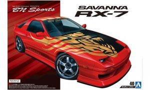1:24 Scale Aoshima MAZDA RX7 FC3S BN Sports Model Kit #164p