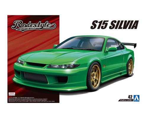 1:24 Scale Aoshima Rodex Style Nissan S15 Model Kit #166p