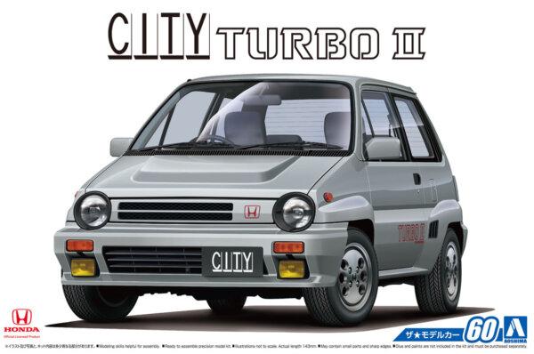 1:24 Scale Aoshima Honda AA CITY TURBO II Model Kit #59p