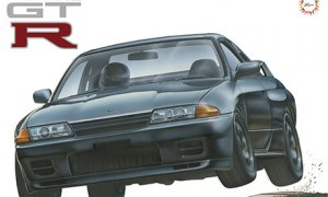 1:12 Scale Fujimi MASSIVE Nissan Skyline R32 GTR Model Kit #1027