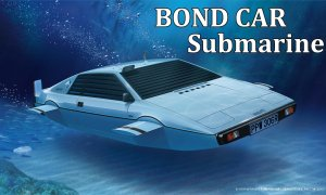 1:24 Scale BOND CAR SUBMARINE Lotus Esprit Model Kit #767p