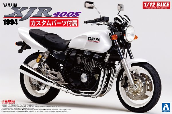 1:12 Scale Yamaha XJR400S With Custom Parts Model Kit #385p