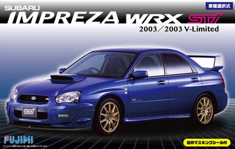 1:24 Scale Fujimi Subaru Impreza WRX Type R STI GDB Model Kit #640p