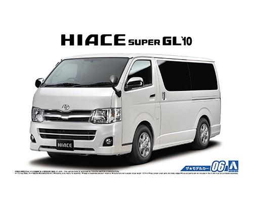 1:24 Scale Aoshima Toyota Hiace GL TRH200V SUPER 2010 Model Kit #06