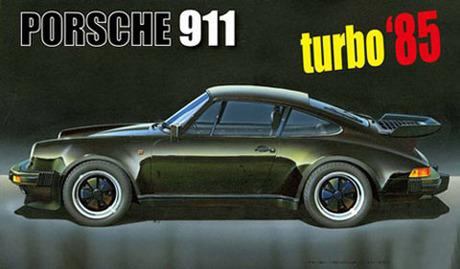 1:24 Scale Fujimi Porsche 911 Turbo '85 Model Kit #820p