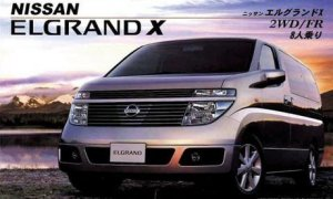 1:24 Scale Nissan New Elgrand X Model Kit #605p