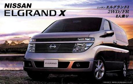 1:24 Scale Fujimi Nissan New Elgrand X Model Kit #605p